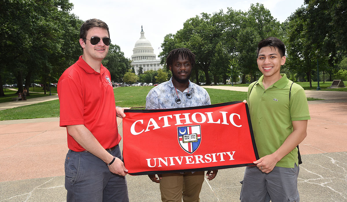 Catholic University students in city